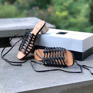 NIB!  Dolce Vita Kai Black Leather Sandals -Sz. 6